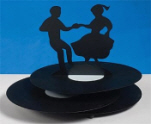 Sock Hop Metal Centerpiece, 50's Table Decoration