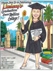 custom caricature for graduation party invitations