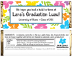 custom candy bar party favor for graduation luau theme party