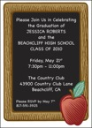 Apple Blackboard Invitation