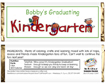 kindergarten graduation party favor. custom candy bars for kids graduation from kindergarten