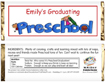 preschool graduation party favor. kids graduation party
