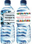 Custom water bottle labels for a graduation party. Graduation Party Favors