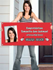 graduation banner. custom decoration for graduation party