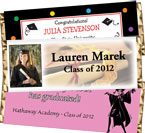 Graduation party personalized candy bar wrapps