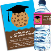 Graduation Smart Cookie theme invitation and favors