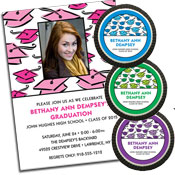 Hats off to the graduate theme invitations and favors