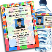 Graduation crowd theme invitation and photo favors