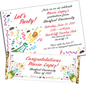 Graduation Champagne invitation and favors