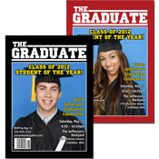 Graduation magazine cover invitations