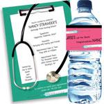 Graduation nursing theme invitations and party favors