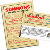 Law School Summons Theme Graduation Party Favors