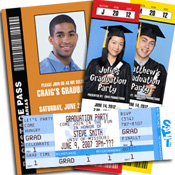 Graduation ticket invitations, photo invitations