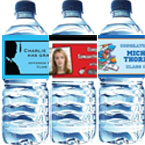 Personalized graduation water bottle labels