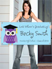 Owl theme banners for graduation