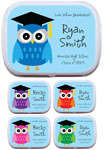 Owl theme mint and candy tins for graduation