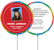 custom lollipop graduation party favors