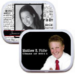 2013 graduation party favors mint and candy tins