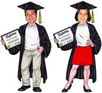 life-sized cutout of your gradute. custom graduation party decorations