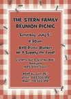 personalized BBQ picnic invitation