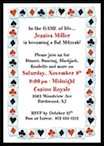 personalized casino theme invitation