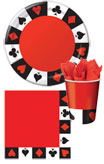 casino theme paper goods