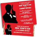 James Bond 007 Casino theme invitations