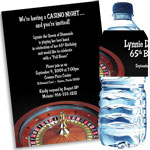Roulette theme party invitation ans favors