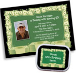 Casino Cash Party Invitations and Supplies