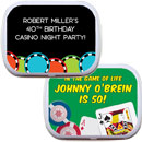 Casino theme mint tins