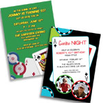 See all of our casino theme invitations and favors