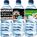 Casino theme water bottle labels