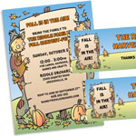 Fall havest party theme invitations and favors
