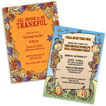 Personalized Fall party invitations, decorations and party supplies