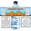 Fall theme water labels