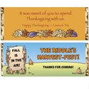 Fall theme candy bar wrappers