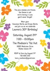 personalized luau party invitation