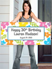 personalized banners for your luau party