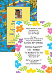 Luau Party Invitations and Favors