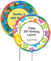 luau party favor, custom lollipops