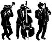 jazz trio 20's party wall decorations