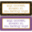 Roaring 20s party theme banners
