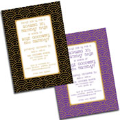 Art deco theme semi custom caricature invitations