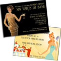Roaring 20s theme invitations