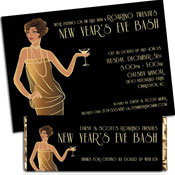 Raoring 20s theme invitations and favors