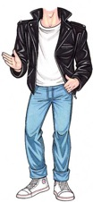 life sized greaser cutout