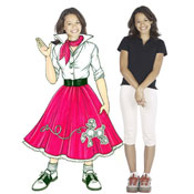 50s woman, poodle skirt theme lifesize cutout