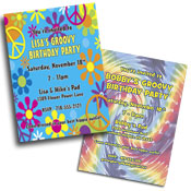See all 60s theme invitations and favors
