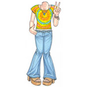 60s teen hippie theme lifesize cutout