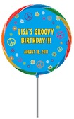 custom 60s theme lollipop party favor